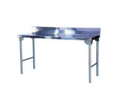 SPLASH BACK TABLE 1700MM MILD STEEL LEGS ECONO 9000 SDTA9004O7