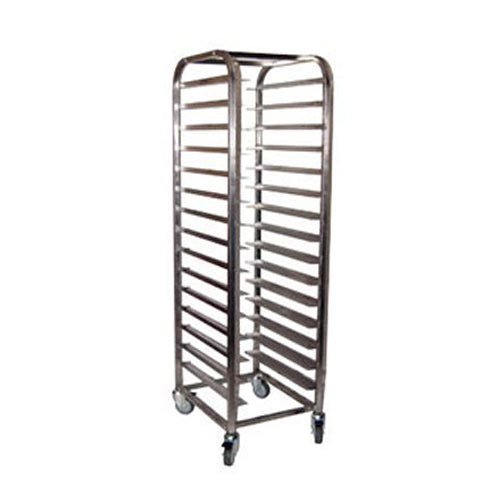 MOBILE TRAY TROLLEY S/STEEL - 15 SHELVES MTT0015