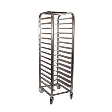 MOBILE TRAY TROLLEY S/STEEL - 15 SHELVES MTT0015 | wedoall-co-za.myshopify.com