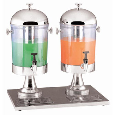 JUICE DISPENSER S/STEEL - 2 BOWL 550 x 340 x 540mm 7Lt x 2 JDS2002 | wedoall-co-za.myshopify.com