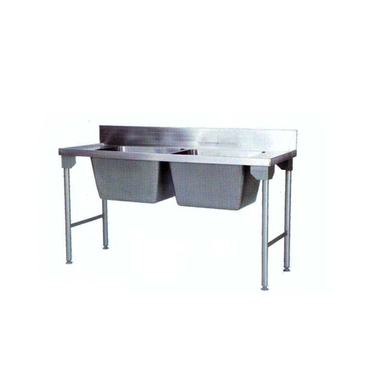 Double Pot Sink 2300mm Mild Steel Legs Pkpdps2300msl