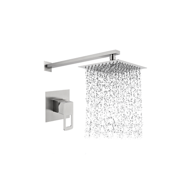 Square Shower Head, Arm & Mixer set – S/Steel SSS-2