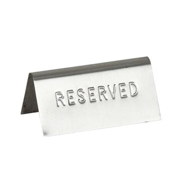 Reserved table sign stainless steel RTS0001 | wedoall-co-za.myshopify.com