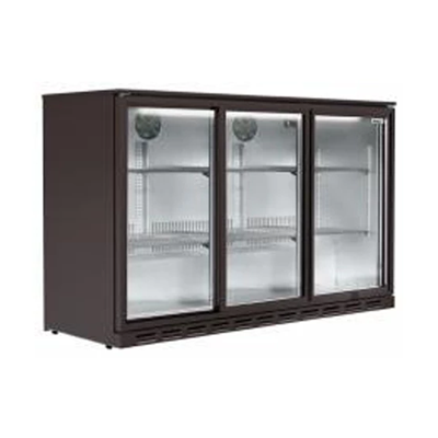 Back Bar Cooler 3 Door Hinged 320Lt, LG308H
