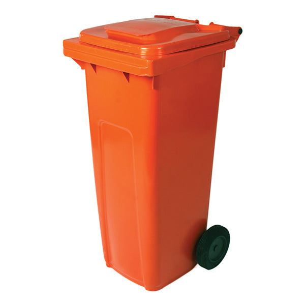 Mobile Refuse Bin 240Lt On Wheels Orange (Paper) Global IBP3240 |  | wedoall.co.za