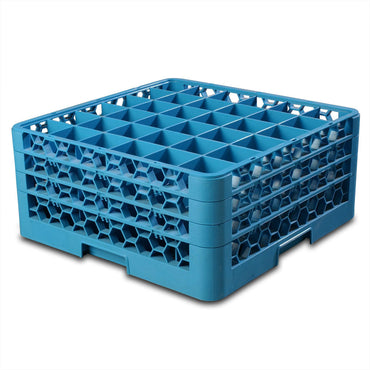 Glass Rack – 36 Compartment (Blue) Carlisle GRC5036 | wedoall-co-za.myshopify.com