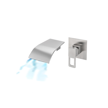 Single Lever Wall Mounted Wide Square Basin / Bath Mixer – SSF-27