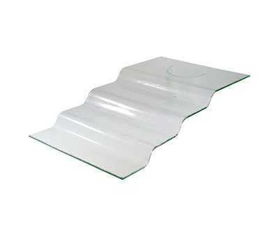 4-Step Stand – Clear Glass 66 X 40 X 13Cm BDK-540018