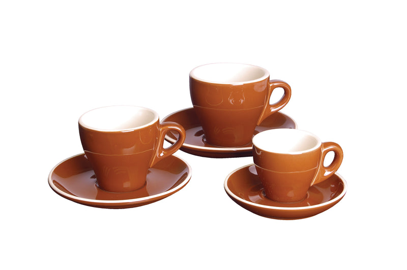 CAPPUCCINO SAUCER BROWN - 14.2CM (12) GS-R809S-BR | cappuccino cup | wedoall.co.za