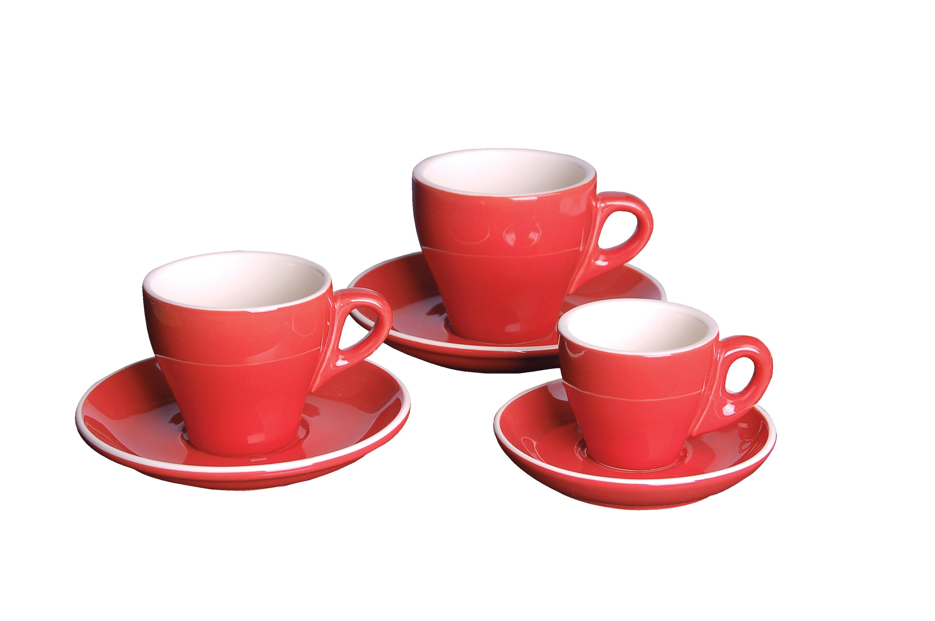 Cappuccino Saucer Red- 14.2CM  - GS-R809S-R