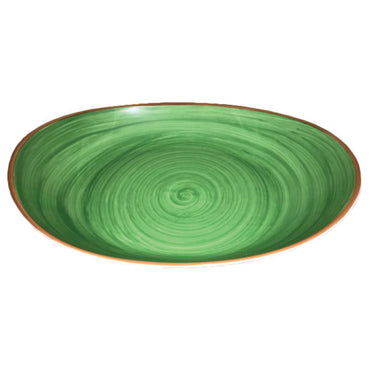 DEEP BUFFET OVAL BOWL GREEN - 36cm (1) - MPS0102360HPDG