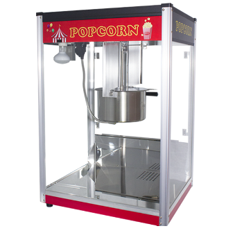 Popcorn Machine 16oz POP16B Red & Black