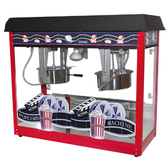 Popcorn Machine 2x8oz POP6A-2 Red & Black