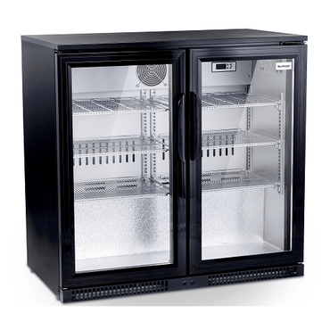 Black Two Door Alfresco Beverage Cooler SD220
