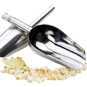 Stainless Steel Popcorn Scoop Large