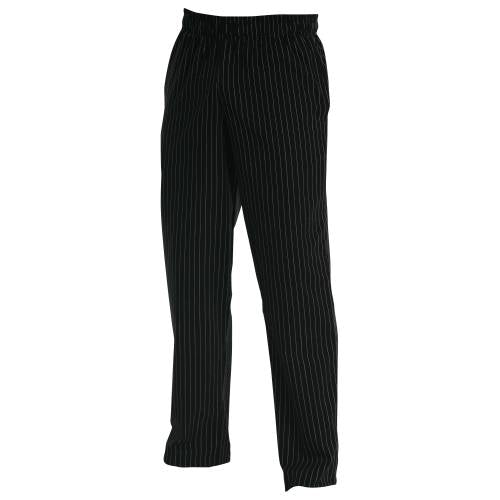 Chefs Uniform – Baggies Black Pin Stripe – Large UNI3053