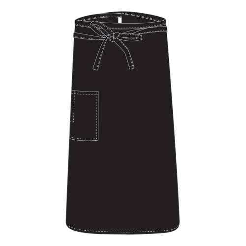 Chefs Uniform – Bistro Black Apron UNI4022