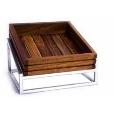 WOOD DISPLAY STAND (STEEL) - INFINITY - 330 x 300mm STRAIGHT - WDS1330 | wooden display stand | wedoall.co.za
