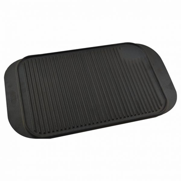 40X26.5CM CAST IRON RIBBED GRIDDLE 18/SM205 | wedoall-co-za.myshopify.com