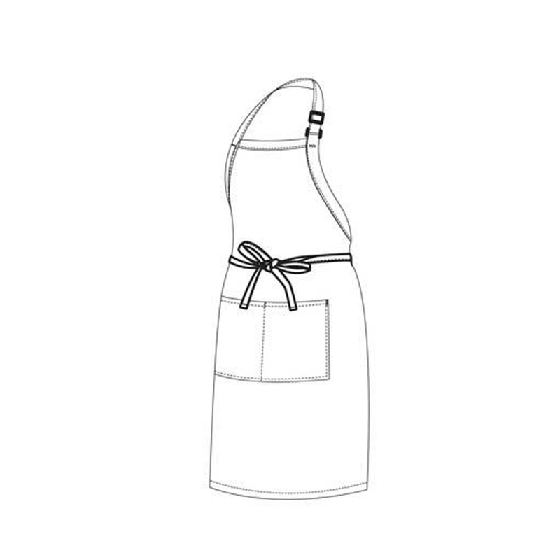 Chefs Uniform – Full Bib White Apron UNI4019
