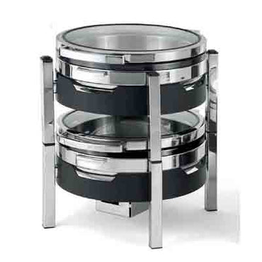 T-COLLECTION INDUCTION CHAFING DISH (ROUND) S/STEEL BAND 6.5Lt CIR3065 | wedoall-co-za.myshopify.com