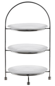 TEA CAKE STAND 3 TIER - 18/10 S/STEEL (27cm PLATES NOT INCLUDED) L256 x W256 x H421mm (TCS0027 | wedoall-co-za.myshopify.com