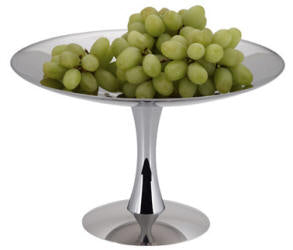 FRUIT STAND S/STEEL - 1-TIER 18/10 D325 x H200mm  FTS0001 | wedoall-co-za.myshopify.com