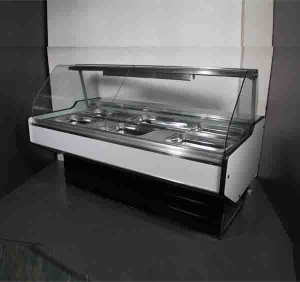 Bain Marie 4 Division Curved Glass Model Eco 4DCGBM