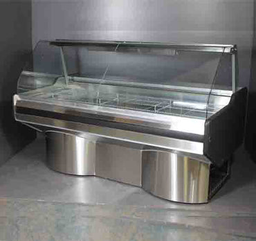 6 Division Bain Marie CG Ext Ped 6DCGBMSSEP | 6 Division Bain Marie Curved Glass S/Steel Ext Ped | wedoall.co.za
