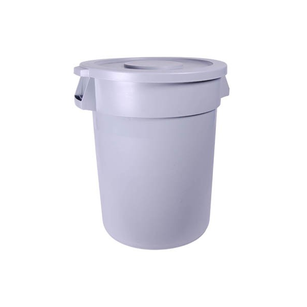 ROUND REFUSE BIN WITH FLAT LID 120Lt 560 x 820mm IBP1001