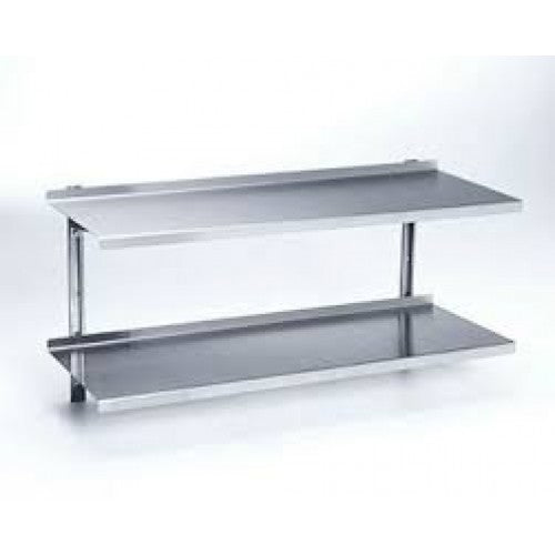 S/STEEL WALL SHELVING DOUBLE - 600 x 300mm SSW2600 | shelf unit | wedoall.co.za