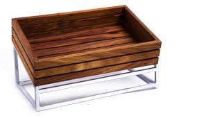 WOOD DISPLAY BASKET (500 x 300 x 90mm) INFINITI - WDB0500 | wood display stand | wedoall.co.za