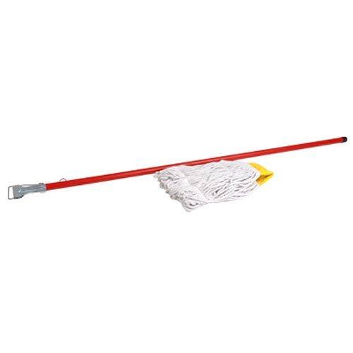 MOPHOLDER - PVC/WOOD HANDLE ONLY RED 1550MM MHW0500 | mop holder | wedoall.co.za