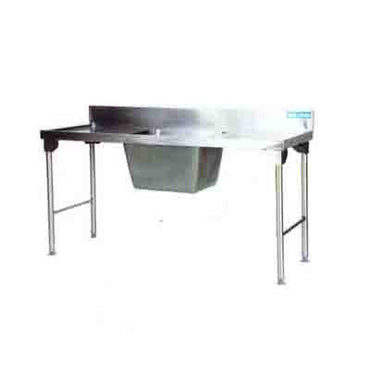 Sink Single Pot Stainless Steel Legs 1800mm Ezy Wash  -Right EZWH1019O7