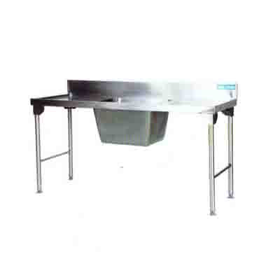 Sink Single Pot Stainless Steel Legs 1800mm1.2 mm 304 Ezy Wash  - Left EZWH1018O7 | Sink Single Pot | wedoall.co.za