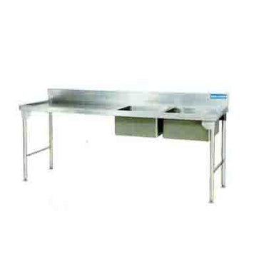 Sink Double Bowl Stainless Steel Legs 2300mm 1.2 mm 304 C/S Ezy Wash -Left EZWH1014O7 | Sink Double Bowl | wedoall.co.za