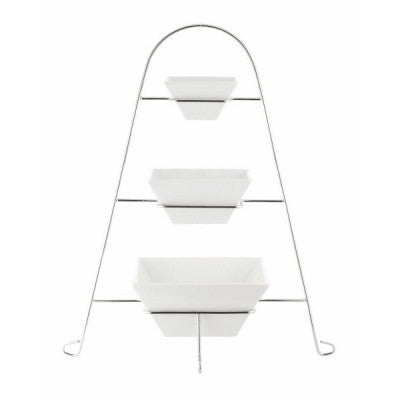 3-TIER SQUARE BOWL STAND 140 x 120mm (1) PS-F002B