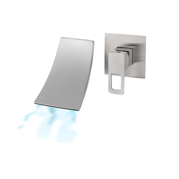 Single Lever Wall Mounted Wide Square Basin / Bath Mixer – S/Steel SSF-26