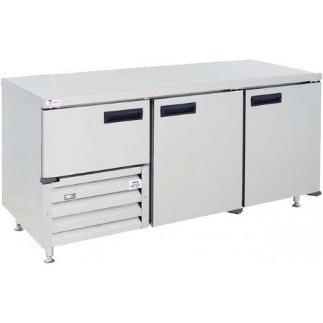 Stainless Steel UnderBar Fridge Self Contained Cabinet 2.5 Door QUB6S/C