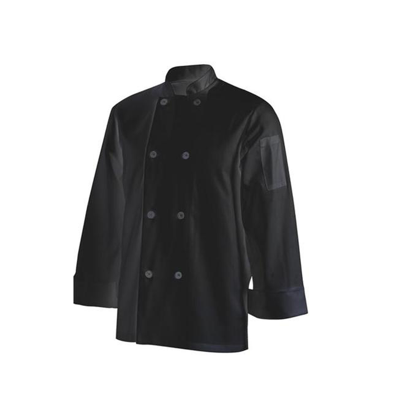 Chefs Uniform Jacket Basic Long – Black – X – Small UNI7010