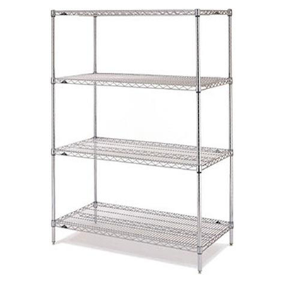Shelving System Galvanised Brite Chrome 6 Tier 900 x 450 x 1800 mm 1836BR4(6)