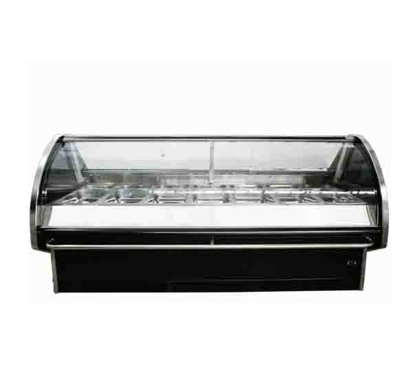 FRIDGE Counter Meat Chiller Curved Glass 1.3M CGM130