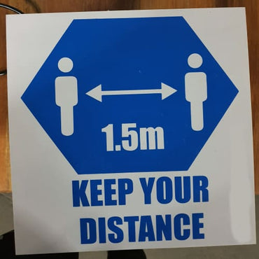 Keep Your Distance Sign - sign