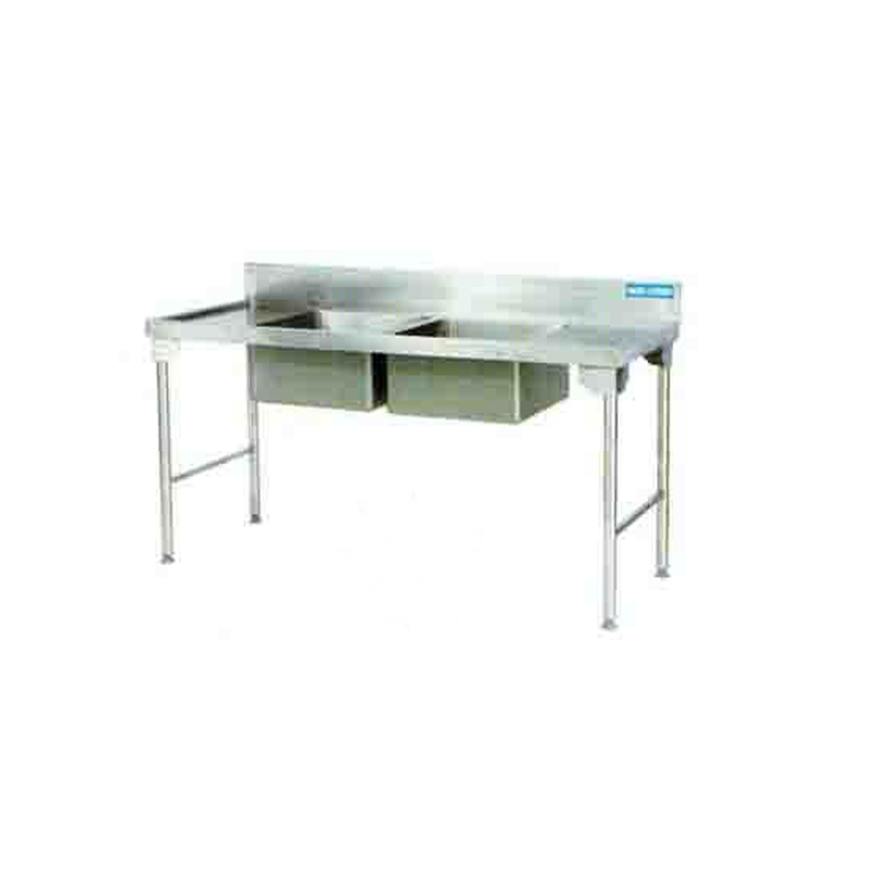 Double Bowl Sink 1800mm S/Steel Legs Right EZWH1012O7 | Sink Double Bowl | wedoall.co.za