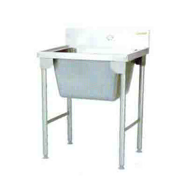 Sink Single Pot Titan 770mm  0.9 mm 430 S/S Mild steel legs SDSN1016O7 | Sink Single Pot | wedoall.co.za