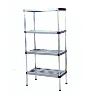 SHELVING SYSTEM STAINLESS STEEL FLOOR MODEL 4 TIER POT RACK BOLT  1100mm PTRK1102O7 | wedoall-co-za.myshopify.com