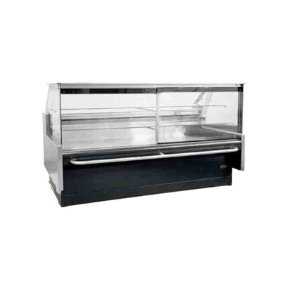 Warming Display Square CG 2.4m SGDW2440 | Square Curved Glass 2.4m Deli Warmer | wedoall.co.za
