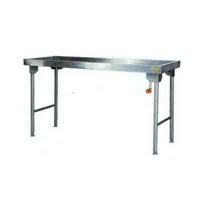 Sausage Table 1100mm 0.9 mm 430 S/S With Mild Steel Legs Titan  SDTA1017O7 | Sausage Table | wedoall.co.za