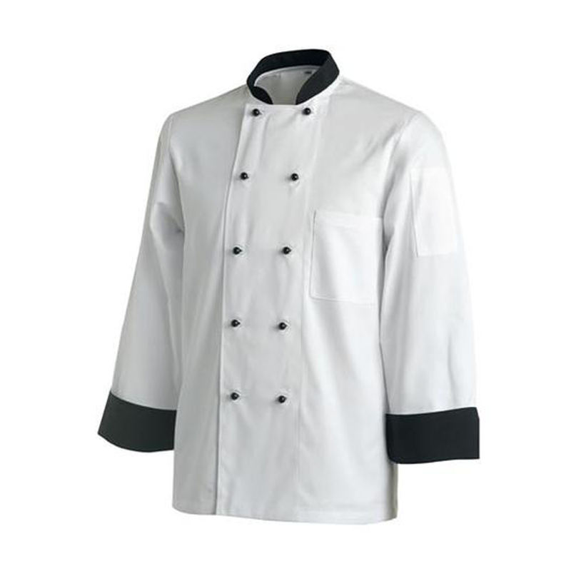 Chefs Uniform Jacket Contrast Long - X - Small UNI5020