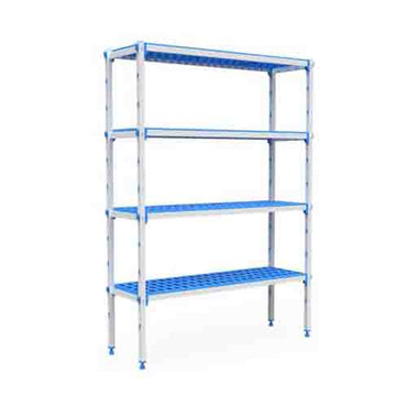 ALUMINIUM AND PLASTIC SHELVING UNIT - 1590 x 555 x 1750mm  SUP1590 | wedoall-co-za.myshopify.com